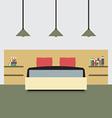 Flat design double bedroom vector