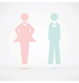Men and women wc sign silhouette vector