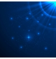 Blue shining background vector