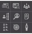 Black job search icons set vector