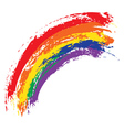 Grunge rainbow vector