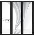 Abstract gray wavy background vector