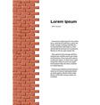 Brick wall identity vector