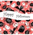 Funny halloween background monsters vector