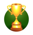 Trophy gold cup vector