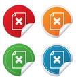 File document stop icon delete doc button vector