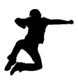Jumping man silhouette vector