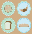 Set of homemade bakery icon color badges vector