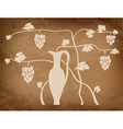 Vineyard on grungy background vector