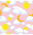 Seamless sun and moon vector