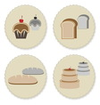 Set of vintage variety bakery badges vector