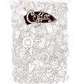 Coffee sketchy notebook doodles hand-drawn  coffee vector