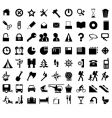 Black icons vector