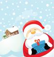 Santa with gift vector