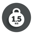 Weight sign icon 15 kilogram kg mail weight vector