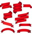 Red web ribbons set vector