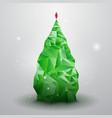 Glassy christmas tree vector