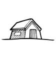 Detached house vector