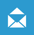 Mail icon white on the blue background vector