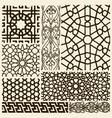 Arabesque design set vector