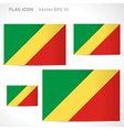 Republic of the congo flag template vector