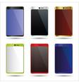 Various color smart phones mock up symbols eps10 vector