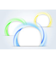 Abstract colorful rings forming a 3d background vector