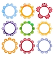 Super cool watercolor round frames vector