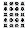 Dotted arrows round icons set isolated on white vector
