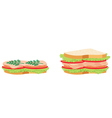 Two sandwiches vector