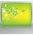 Abstract card with floral background vector