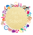 Back to school on paper seamless children backgrou vector