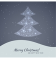 Merry christmas landscape vector