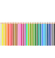 Group of colored pencils vector