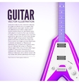 Guitar background concept vector