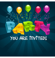Colorful party invitation card vector