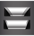 Collection of banner set metallic steel and vector