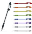 Ballpoint pens set vector