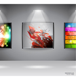 Show room art gallery vector