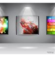 Show room art gallery vector