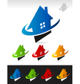 House real estate swoosh icons vector