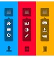 Small menu icon vector