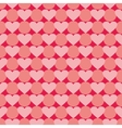 Pink and red valentines tile background with heart vector