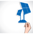 Blue wind solar panel vector