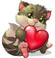 Beautiful kitten vector