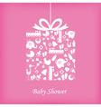 Baby girl birth card vector