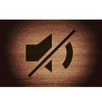 Mute sound flat modern web button and space for vector
