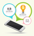 Smartphone with speech and icons vector