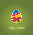 Easter eggs with bow ribbon gift vector