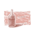 Bottle of wine hand-drawn eps8 vector